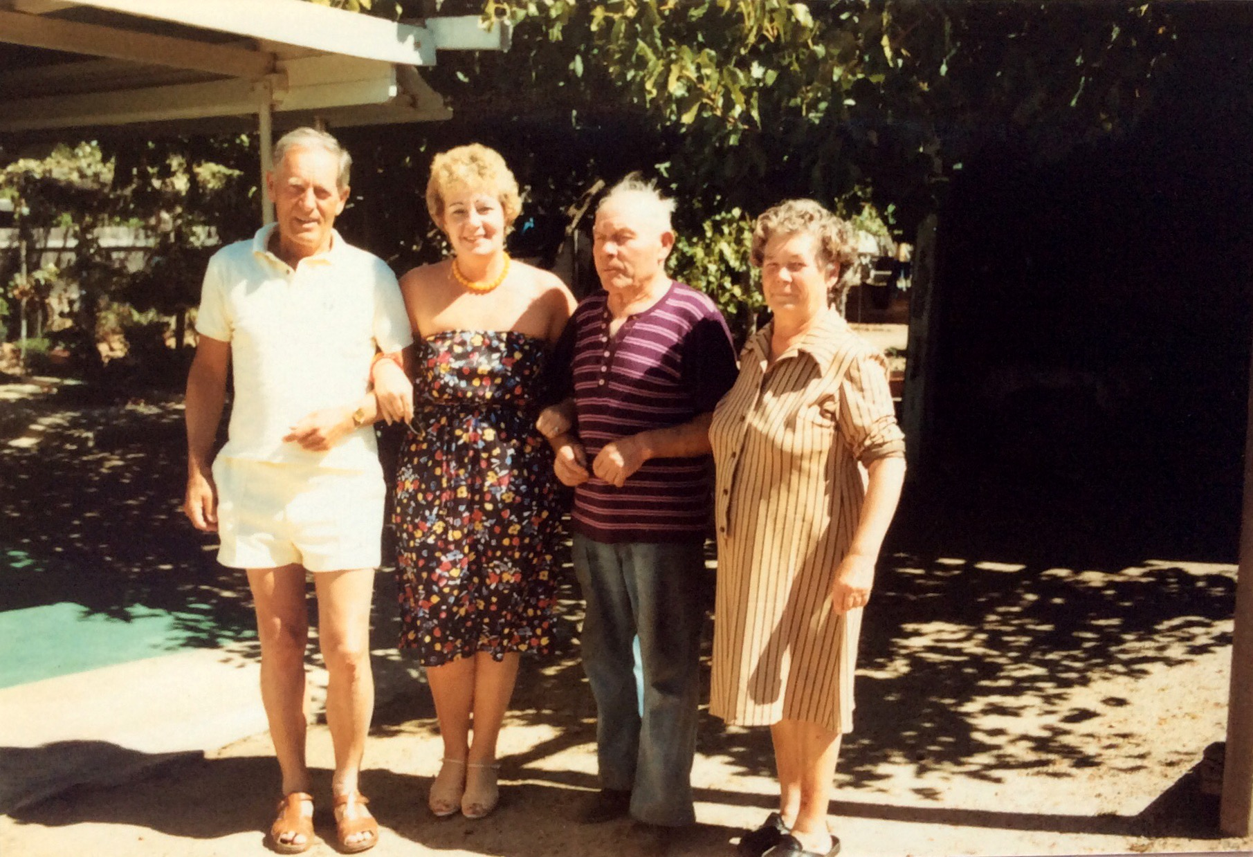 Visiting friends while we were in Narrogin...1982....Sylvia's grandparents...