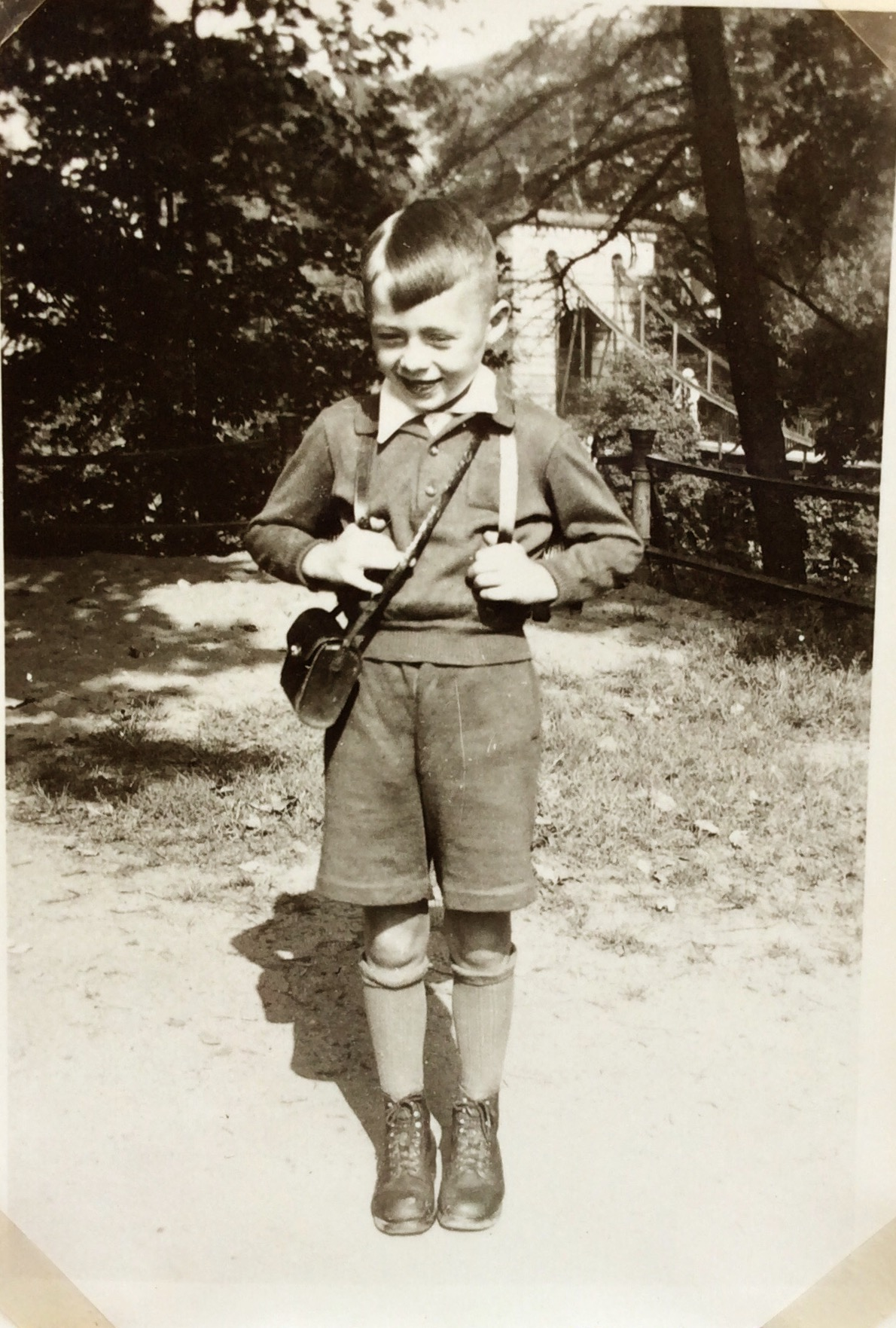 Hans Juergen, first day at school....1943